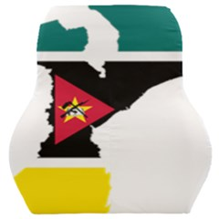 Mozambique Flag Map Geography Car Seat Back Cushion  by Sapixe