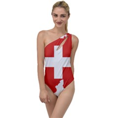 Switzerland Country Europe Flag To One Side Swimsuit