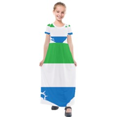 Sierra Leone Flag Map Geography Kids  Short Sleeve Maxi Dress by Sapixe