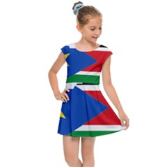 South Sudan Flag Map Geography Kids  Cap Sleeve Dress
