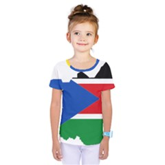 South Sudan Flag Map Geography Kids  One Piece Tee by Sapixe