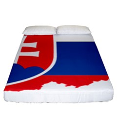 Slovakia Country Europe Flag Fitted Sheet (king Size)