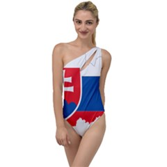 Slovakia Country Europe Flag To One Side Swimsuit by Sapixe