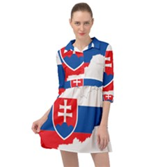 Slovakia Country Europe Flag Mini Skater Shirt Dress