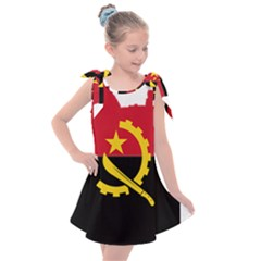 Angola Flag Map Geography Outline Kids  Tie Up Tunic Dress
