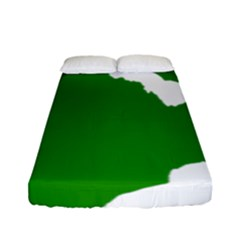 Zambia Flag Map Geography Outline Fitted Sheet (full/ Double Size)