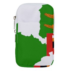 Zambia Flag Map Geography Outline Waist Pouch (small)