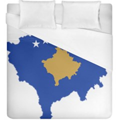 Kosovo Country Europe Flag Borders Duvet Cover (king Size) by Sapixe