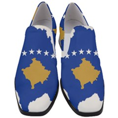 Kosovo Country Europe Flag Borders Women Slip On Heel Loafers