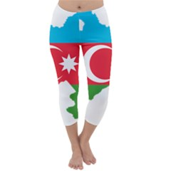 Borders Country Flag Geography Map Capri Winter Leggings  by Sapixe
