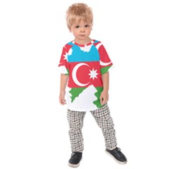 Borders Country Flag Geography Map Kids  Raglan Tee by Sapixe