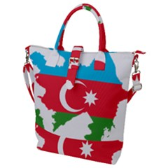 Borders Country Flag Geography Map Buckle Top Tote Bag by Sapixe