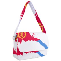Eritrea Flag Map Geography Outline Courier Bag by Sapixe