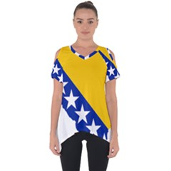 Bosnia And Herzegovina Country Cut Out Side Drop Tee