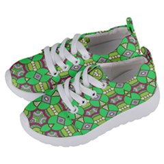 Circles And Other Shapes Pattern                         Kids  Lightweight Sports Shoes by LalyLauraFLM