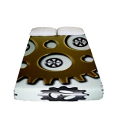 Gear Background Sprocket Fitted Sheet (full/ Double Size)