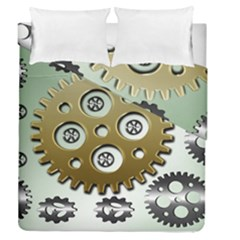 Gear Background Sprocket Duvet Cover Double Side (queen Size)