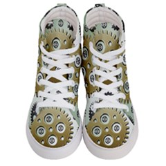 Gear Background Sprocket Women s Hi-top Skate Sneakers