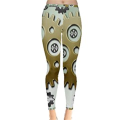 Gear Background Sprocket Inside Out Leggings by HermanTelo