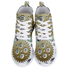 Gear Background Sprocket Women s Lightweight High Top Sneakers
