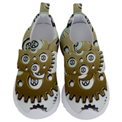 Gear Background Sprocket Kids  Velcro No Lace Shoes
