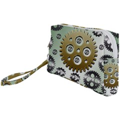 Gear Background Sprocket Wristlet Pouch Bag (small)