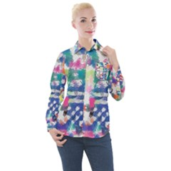 Colorful Crayons                             Women s Long Sleeve Pocket Shirt
