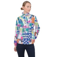 Colorful Crayons                              Women Half Zip Windbreaker