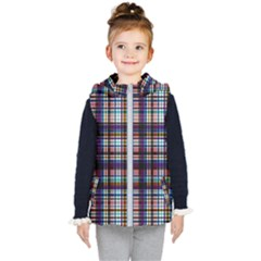 Textile Fabric Pictures Pattern Kids  Hooded Puffer Vest