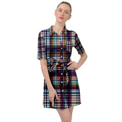 Textile Fabric Pictures Pattern Belted Shirt Dress by Alisyart