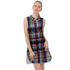 Textile Fabric Pictures Pattern Sleeveless Shirt Dress