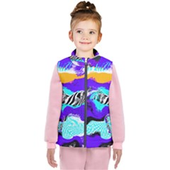 Paint On A Purple Background                               Kid s Puffer Vest