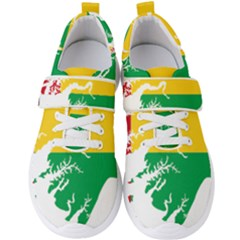 Guinea Bissau Flag Map Geography Men s Velcro Strap Shoes