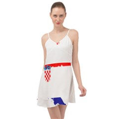 Croatia Country Europe Flag Summer Time Chiffon Dress