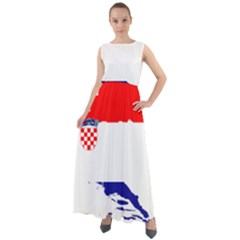 Croatia Country Europe Flag Chiffon Mesh Boho Maxi Dress