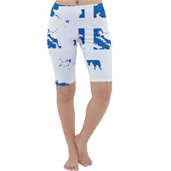 Greece Country Europe Flag Borders Cropped Leggings