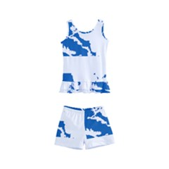Greece Country Europe Flag Borders Kids  Boyleg Swimsuit