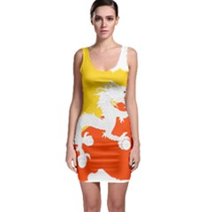 Borders Country Flag Geography Map Bodycon Dress
