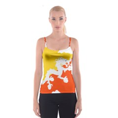 Borders Country Flag Geography Map Spaghetti Strap Top