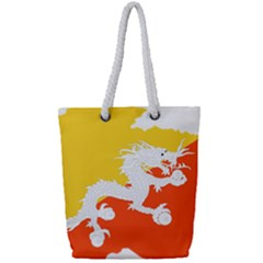 Borders Country Flag Geography Map Full Print Rope Handle Tote (small)
