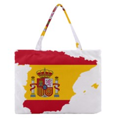 Spain Country Europe Flag Borders Zipper Medium Tote Bag by Sapixe