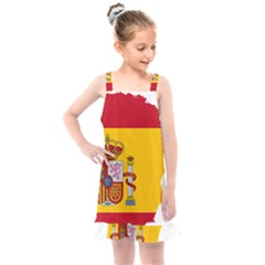 Spain Country Europe Flag Borders Kids  Overall Dress