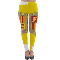 Andorra Country Europe Flag Lightweight Velour Leggings by Sapixe