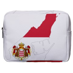 Monaco Country Europe Flag Borders Make Up Pouch (large)