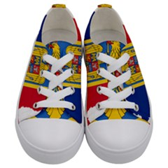Romania Country Europe Flag Kids  Low Top Canvas Sneakers