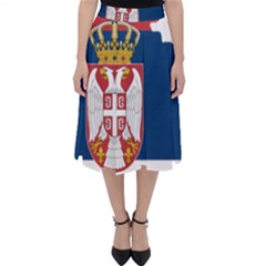 Serbia Country Europe Flag Borders Classic Midi Skirt