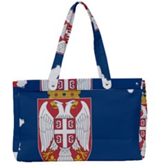 Serbia Country Europe Flag Borders Canvas Work Bag by Sapixe