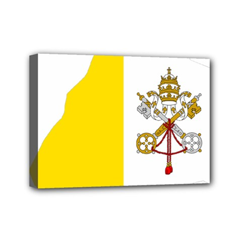 Vatican City Country Europe Flag Mini Canvas 7  X 5  (stretched)