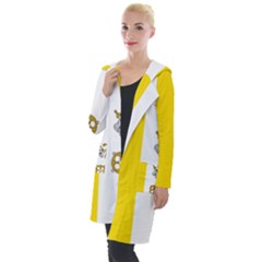 Vatican City Country Europe Flag Hooded Pocket Cardigan