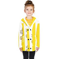 Vatican City Country Europe Flag Kids  Double Breasted Button Coat by Sapixe